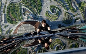 Tom Cruise scales one of the world's tallest buildings.